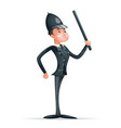 order law policeman 3d security protection cartoon vector image