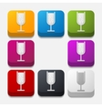 square button cocktail vector image