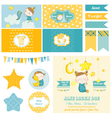 Baby Shower Sleeping Girl Theme - for Party vector image vector image