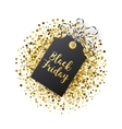 Black Friday sales tag Black tag with golden vector image vector image