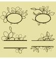 new flower set frame vector image