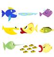 fish set 1 vector image vector image