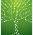 Abstract stars tree vector image