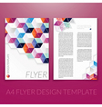 brochure flyer template design with triangle vector image