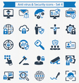 Anti virus and Security icons - Set 4 vector image