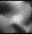 black and white halftone background vector image