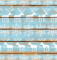 Christmas seamless pattern with deers and vector image