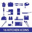 kitchen icon set eps10 vector image