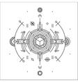 Linear technology space design Modern futuristic vector image