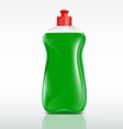 plastic bottle of detergent vector image