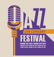 poster for concert of jazz music with a microphone vector image