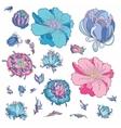 Romantic Flowers Set vector image