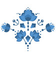 russian pattern khokhloma in a flat style vector image