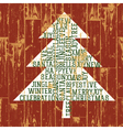 merry christmas tree words composed vector image vector image