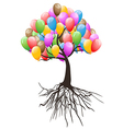 balloons tree for happy holiday vector image