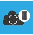 network server concept cloud backup restore vector image