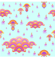 Stylized floral ornament seamless pattern vector image