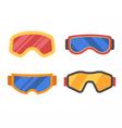 Ski Goggles Icon Set vector image