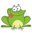 Happy Frog Cartoon Character vector image vector image