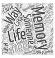 in memory of Word Cloud Concept vector image