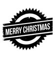 merry christmas rubber stamp vector image
