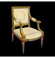 classical style chair vector image