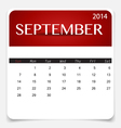 Simple 2014 calendar September vector image vector image