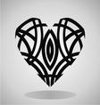 Tribal Heart Tattoo vector image vector image