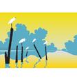 Perched egrets vector image