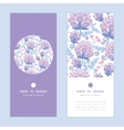 soft purple flowers vertical round frame vector image