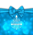 Christmas Invitation with Bow Ribbon vector image