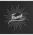 Thank You retro label vector image