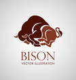 bison icon isolat vector image