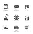 Business marketing icons vector image
