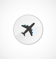 airplane icon 2 colored vector image