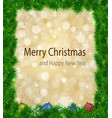 christmas background with shiny magic fires vector image