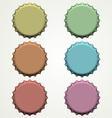 Colorful bottle caps vector image
