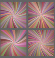 Colorful spiral and ray burst background set vector image