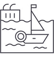 harbor line icon sign on vector image