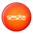 Tram icon flat style vector image