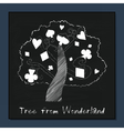 Tree from Alice in Wonderland vector image