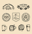 old brewery logos set kraft beer retro signs with vector image
