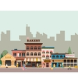 Buildings of small business vector image