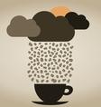 Rain coffee vector image vector image