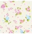 Seamless pattern of Syringa flowers vector image vector image
