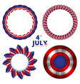 Set of frames to the Independence day of 4th july vector image