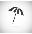 Simple grey beach umbrella vector image