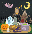 happy halloween concept cartoon style vector image