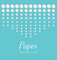 paper background with flowers of different shapes vector image
