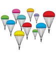 Parachutes icons vector image